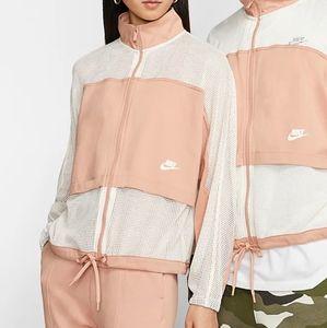 EUC peach mesh jacket